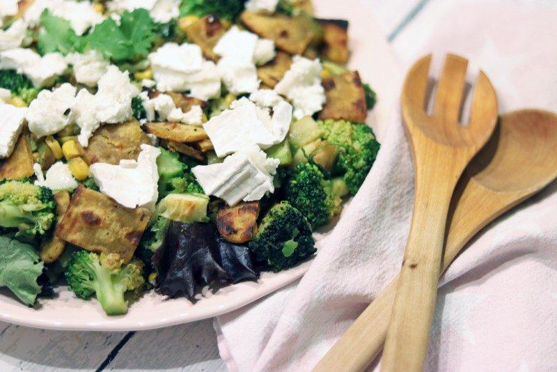salad+lehtikaali+goatcheese